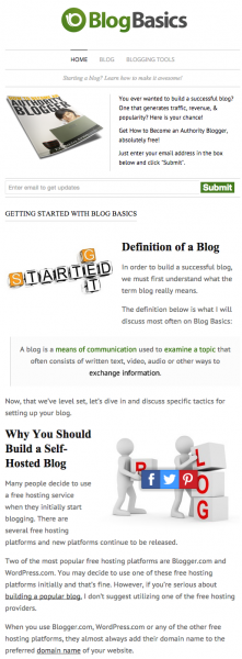 Blog Basics Layout