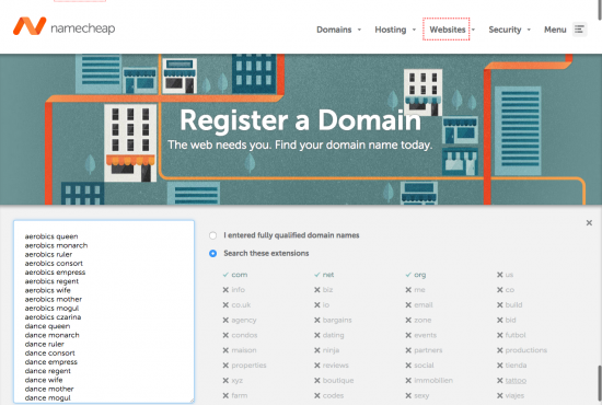 Register Domain with NameCheap